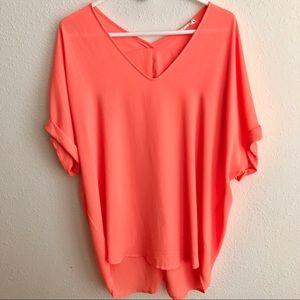 Lush Cuffed Sleeve Woven Shirt